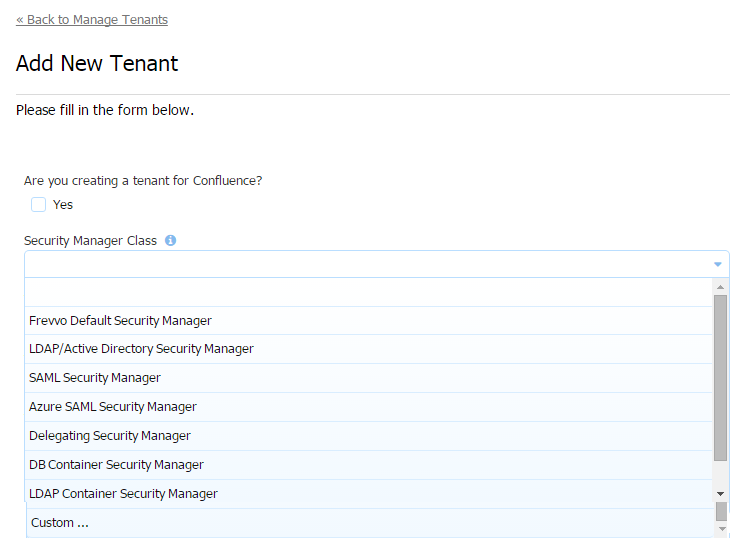 Security Managers - frevvo 71 - Confluence