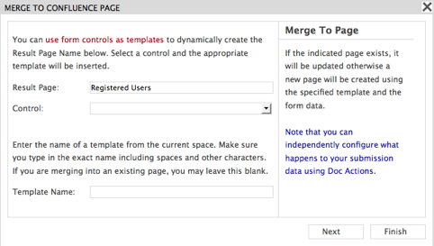 Merge to Confluence Page Wizard
