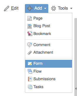 Adding a Form to a Confluence Page in Confluence 4.x