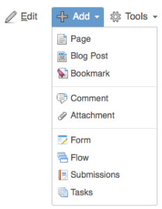 Adding Submissions to a Confluence page