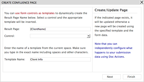 View source for Confluence create page template